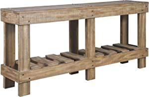 Signature Design by Ashley - Susandeer Console Sofa Table - Farmhouse Casual - Brown