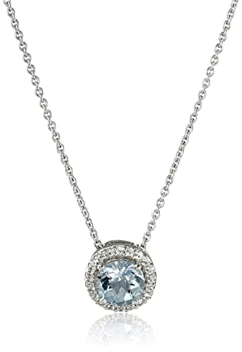 white pendants gold pendant aquamarine marine pear aqua diamond slide with in halo necklace