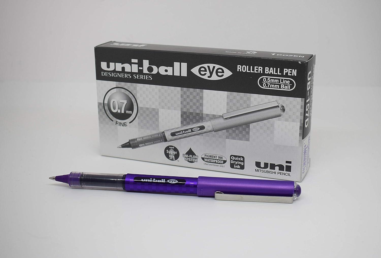 Pack of 12 Uni-ball Eye Designer Rollerball Pen Black