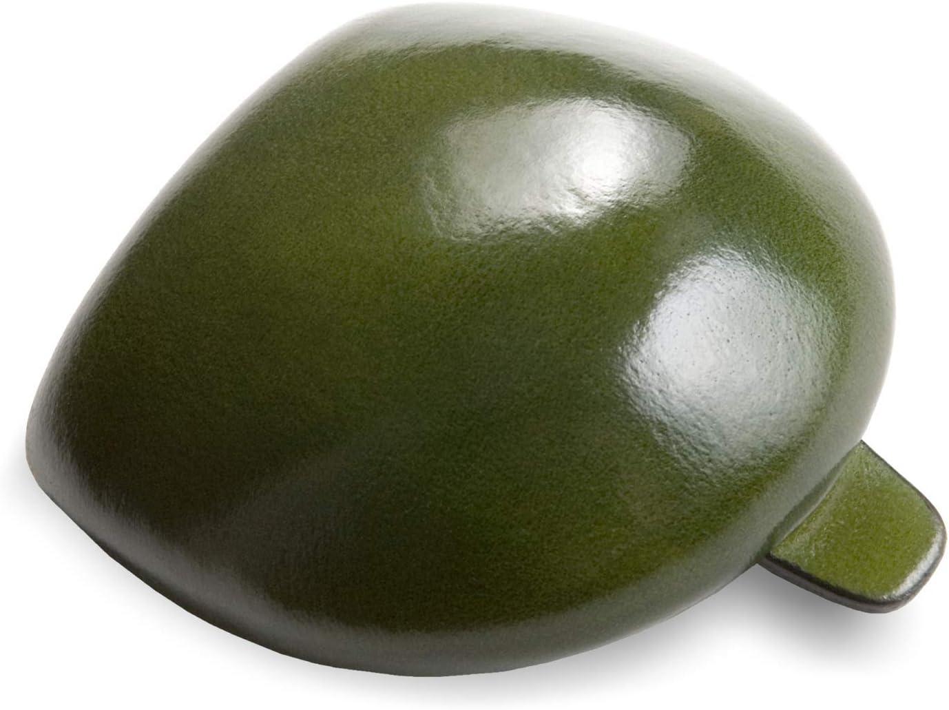 IL BUSSETTO Coin Pouch Tacco Monedero Hecho a Mano en Moes de Madera en Cuero Pintado con Colores Vegetales y Líneas de Construcción Invisible. (Darkgreen)