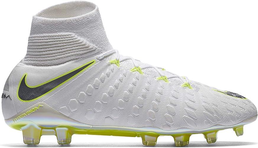 : Nike Men's Hypervenom 3 Elite DF FG WhiteChrome