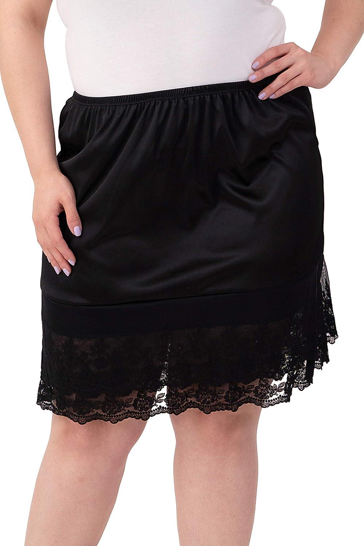 21 Length Double Lace Half Slip Satin Skirt Extender