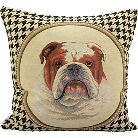 evksppeb/cojín Gobelin/de Bulldog Inglés perro perros/45 x 45 cm