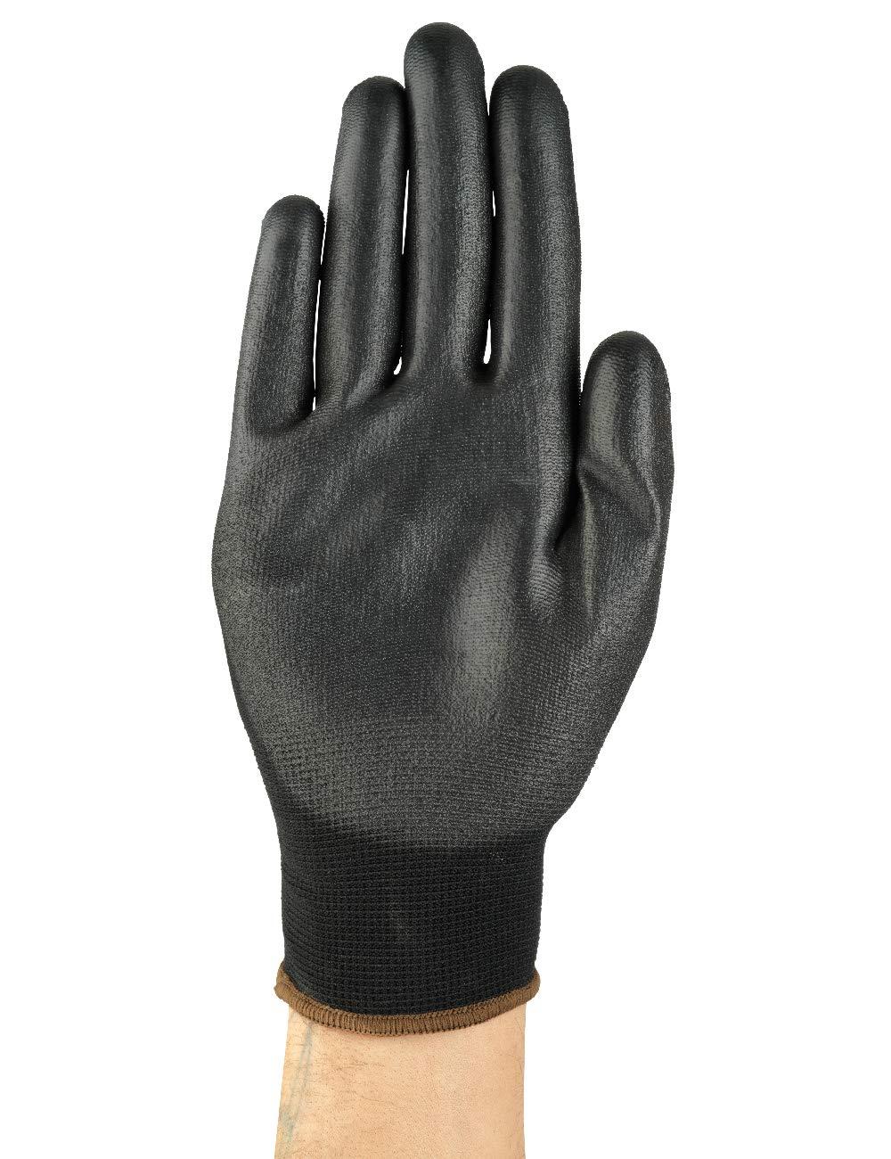 Ansell HyFlex 48-101 Arbeitshandschuhe in Nylon Schwarz Gr/ö/ße 6 Vielseitig Einsetzbarer Abriebfester Industrie- und Mechanik-Handschuh 12 Paar