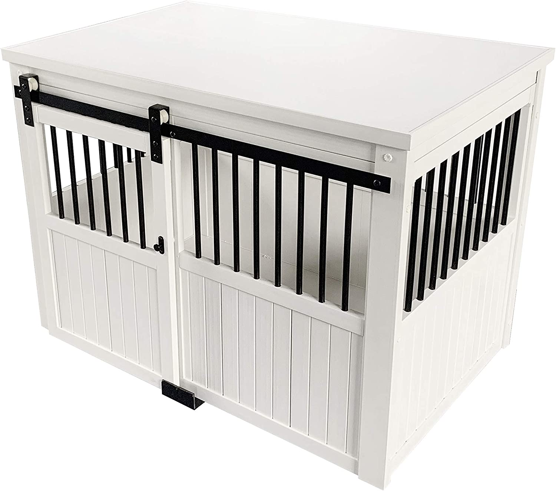 ECOFLEX Homestead Sliding Barn Door Furniture Style Dog Crate