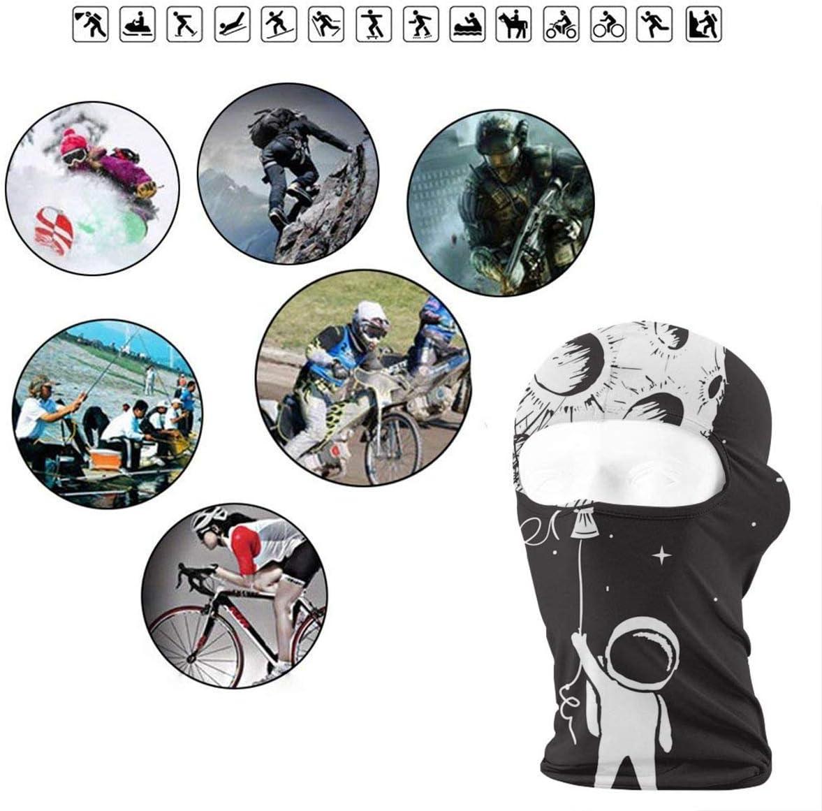 Jxrodekz Balaclava Astronaut Keeps A Moon Motorcycle Face Masks Windproof Ski Mask Sports Balaclava