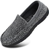 KuaiLu Zapatillas de Estar En Casa Hombre Primavera Zapatillas de Moccasin Espuma de Memoria de al Aire Libre…