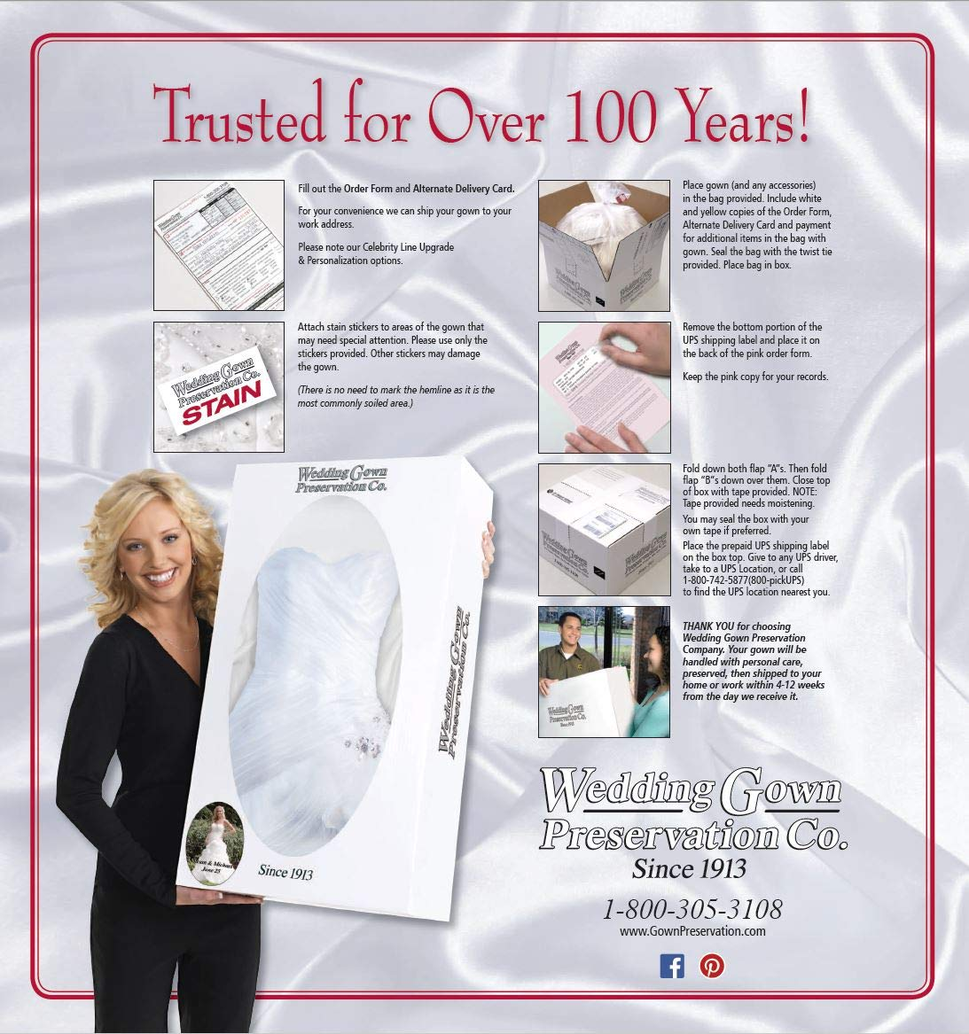 Wedding Gown Preservation Kit Prepaid Dress Cleaning And Preserving