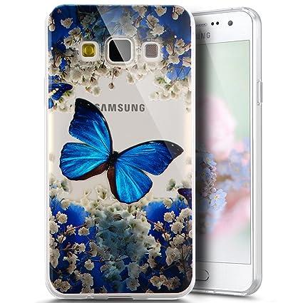 new concept 53cd4 a053b PHEZEN for Samsung Galaxy J2 Prime G532M Case, Galaxy Grand Prime Plus  Case, Elegant Blue Butterfly Design Ultra Thin Anti-Scratch Flexible TPU  Gel ...
