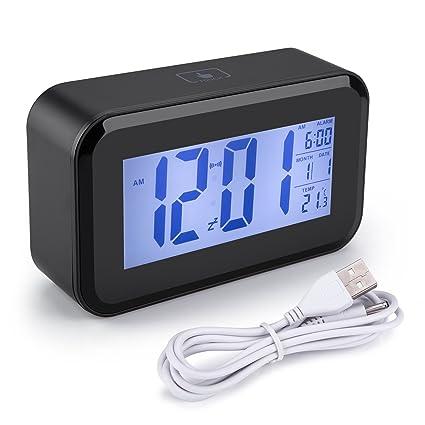 Arespark Reloj Despertador, Despertador Digital con Alarma