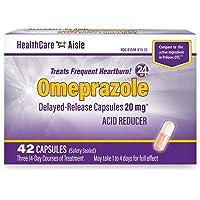 HealthCareAisle Omeprazole Delayed-Release Capsules | Treats Frequent Heartburn...