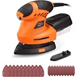TACKLIFE Mouse Detail Sander with 20 Pcs Sandpapers,360° Rotatable Sanding Pad, 12000 OPM Detail Sander with Efficient…