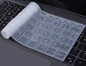 """Clear Transparent Keyboard Cover for 2018 Release DELL XPS 13 9370 & 2017 Release Dell XPS 13 9365 13.3"""" Laptop Ultra Thin Keyboard Protective Skin, Clear"""
