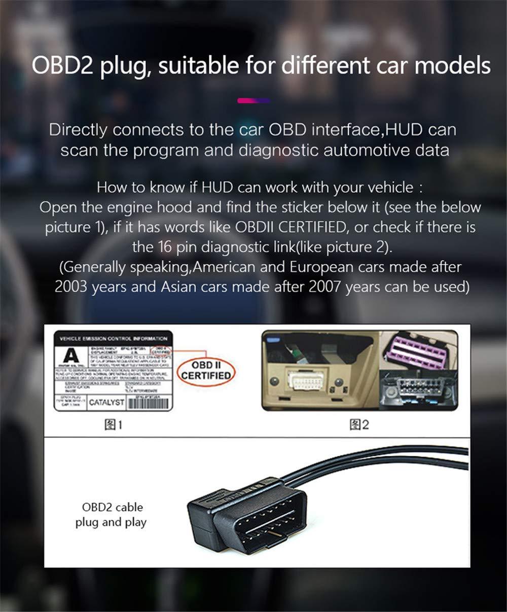 Amazon com: CARWORD Car Hud Head Up Display Hd Digital Over