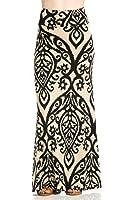 Junky Closet Women's Foldover High Waisted Floor Length Maxi Skirt