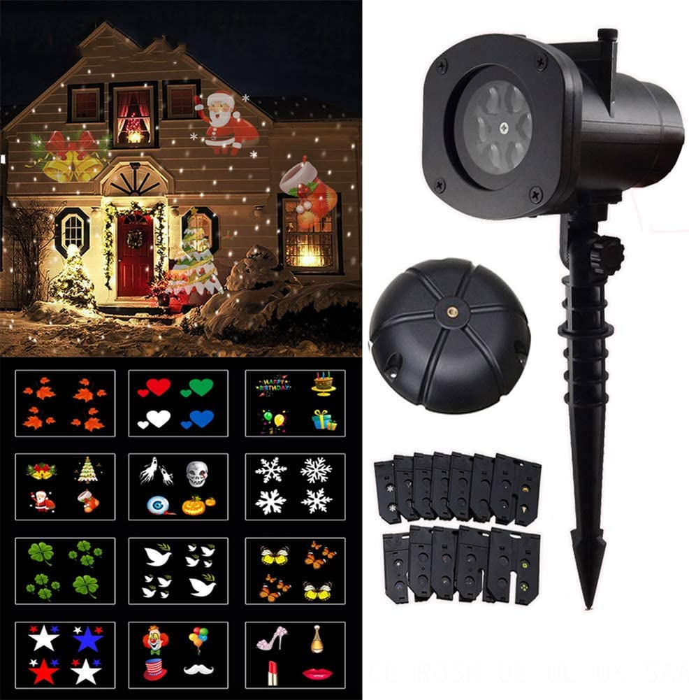 KCD Christmas LED Animated Projector Light 12 Patterns