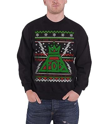 fall out boy christmas jumper sweatshirt xmas lights official mens black - Fall Out Boy Christmas