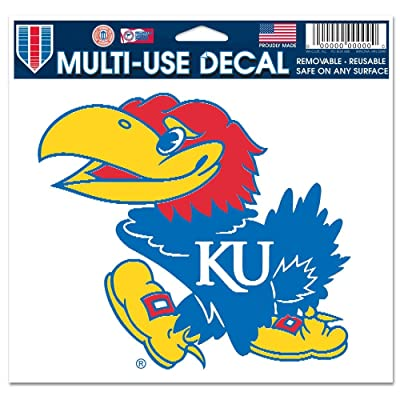 "WinCraft NCAA University of Kansas Multi-Use Colored Decal, 5"" x 6"" : Childrens Wall Decor : Sports & Outdoors"