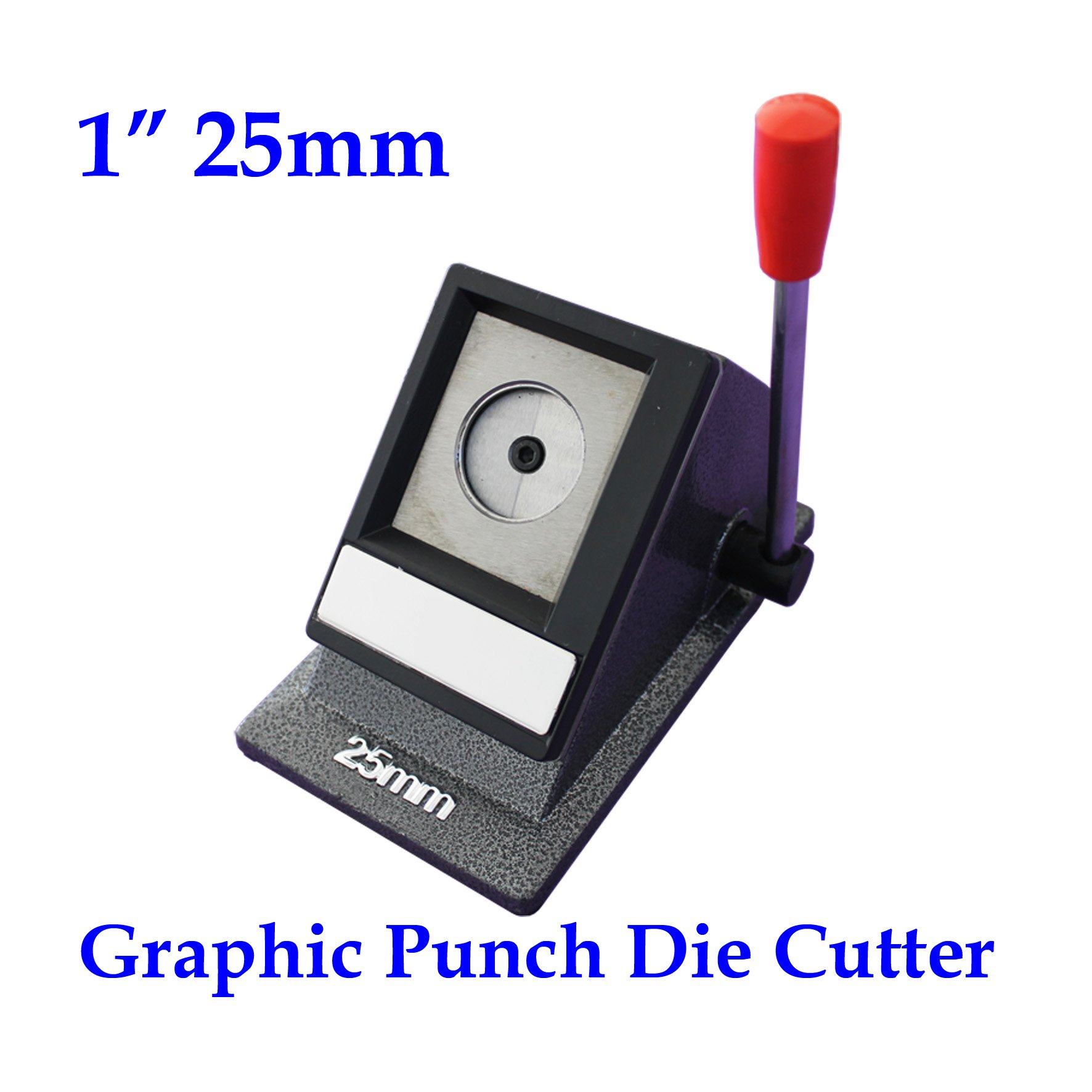 1'' 25mm Multi Sheets Graphic Cutter Round Stack Cutter Button Maker Paper Punch