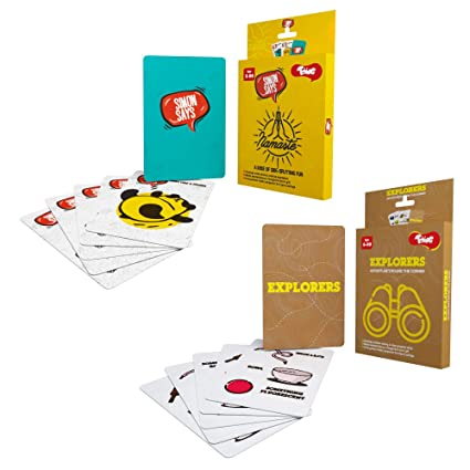 Toiing Party Card Games Combo Pack of 2, for Kids Age 3 Years and Above