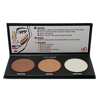 1PC City Color Countour Effects Palette -Contour - Bronze - Highlight #F0005