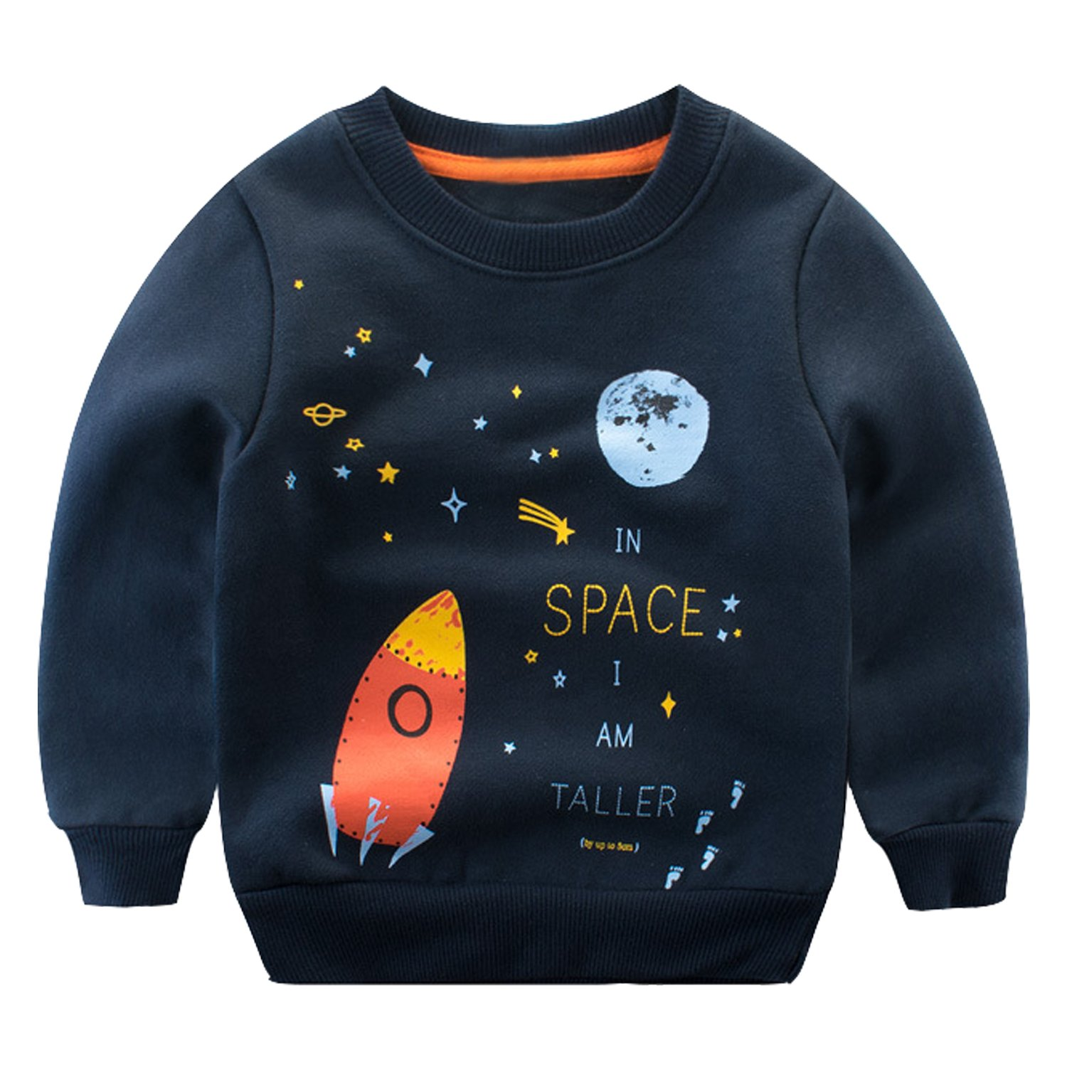 Baby Boys Girls Pullover Sweatshirt Long Sleeve T-Shirt Crew Neck Tops Evelin LEE LFA0532-CA