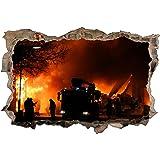 3d Wandtattoo Feuerwehr Loscht Feuer Flammen Bild Selbstklebend