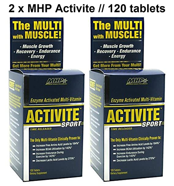 Activite Sport (Multivitamínico + Enzimas) (120 Tabs.) MHP ...