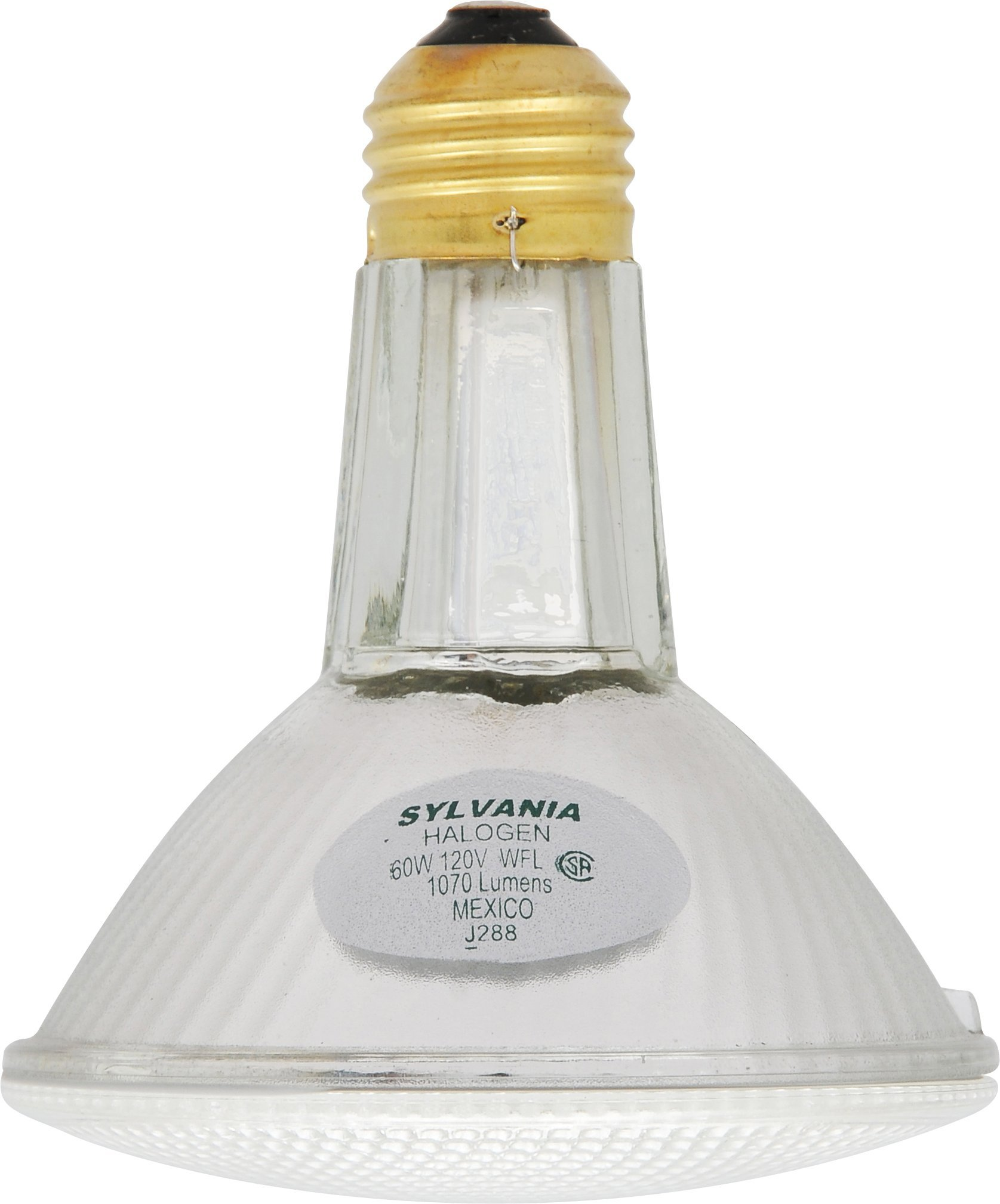 SYLVANIA Capsylite Long Neck Halogen Bulb Dimmable, PAR30 Reflector Wide Flood Light, E26 Medium Base, 60W, Warm White 2900K, 6 Pack