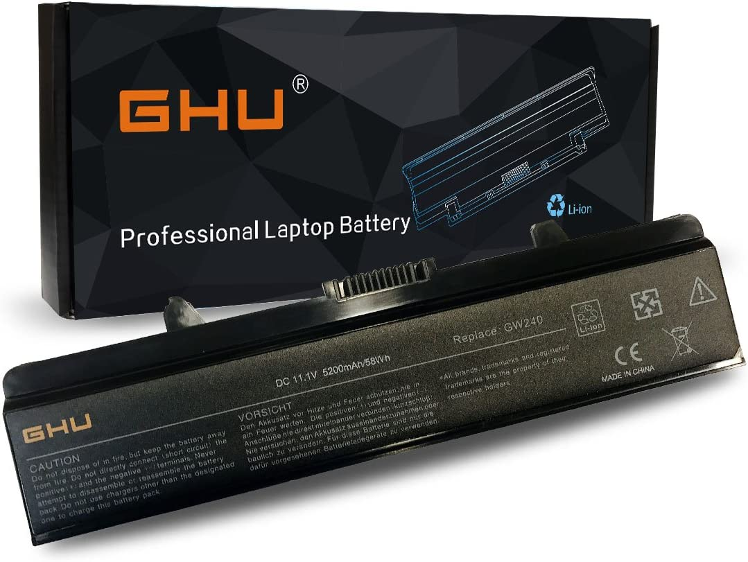 New GHU Battery 58 WH Replacement for Dell Inspiron 1525 1526 1545 1546 1440 1750 PP29L PP41L P/N G240 X284G M911G G555N K450N RN873 312-0763 312-0844 C601H Fits GP952 K450N RN873 RU586