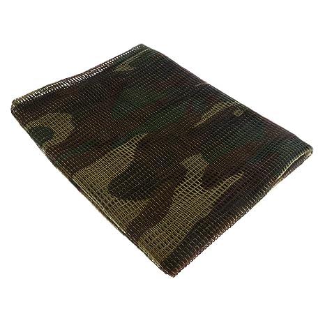 MagiDeal Écharpe Foulard Camouflage Commando Voile Filet Protection Visage pour  Chasse Observation d Oiseaux - 1f312155b93
