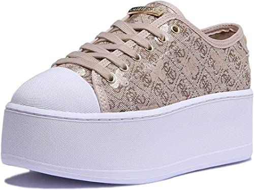 Guess Flbm22 Fal12 Sneaker Donna Beige, Taglia 36: Amazon.it