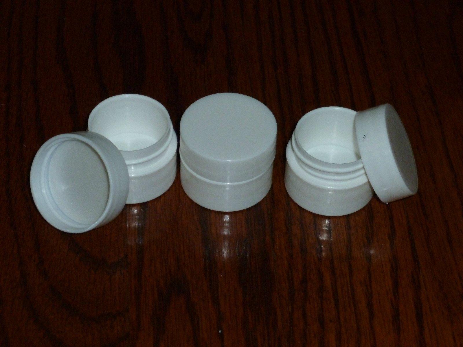 50 NEW Empty .25 oz (7ml) 1/4 oz WHITE LIP BALM Carmex Cosmetic Cream Jars containers