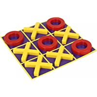 TOYZTREND Criss Cross Paper TICTAC Toe for Kids with X and O in Plastic and Snakes and LADDERS