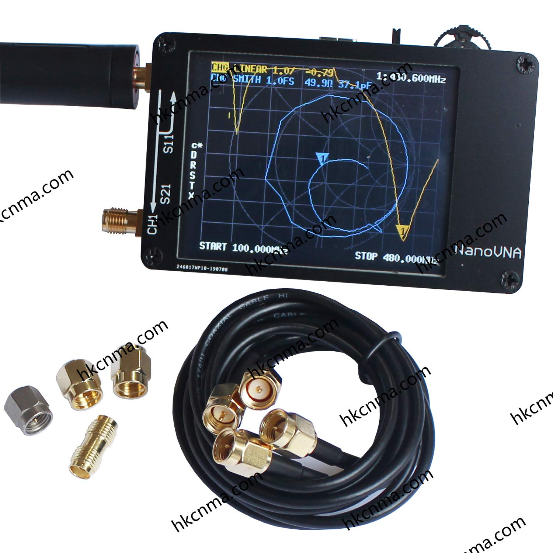 NanoVNA Vector Network Analyzer 2.8'' LCD 50KHz-900MHz HF VHF UHF Antenna by HKCNMA.COM