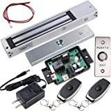 UHPPOTE Access Control Outswinging Door 600lbs Force Electromagnetic Lock & Remote Control Kit, Magnetic Lock with UL…