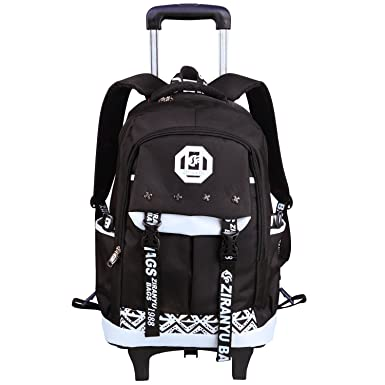 School Bags with Wheels Rolling Elementary Backpack Luggage Toddler Girls ,Boy Students Kids AHZZY