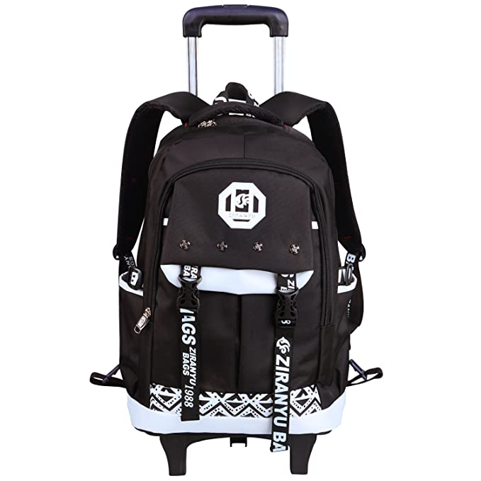 Amazon.com | School Bags with Wheels Rolling Elementary Backpack Luggage Toddler Girls, Boy Students Kids AHZZY | Kids Backpacks
