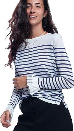Q2 Camisa Blanca a Rayas Violeta, Morado (Purple), Small ...