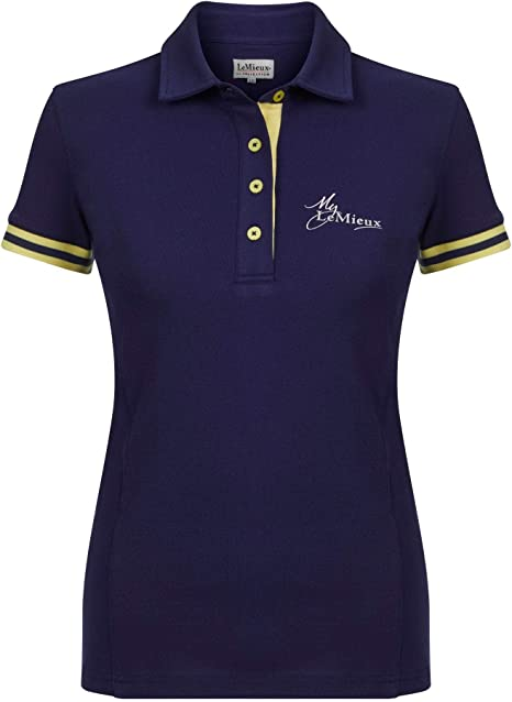 LeMieux My - Polo para Mujer, Color Azul Marino y Amarillo: Amazon ...