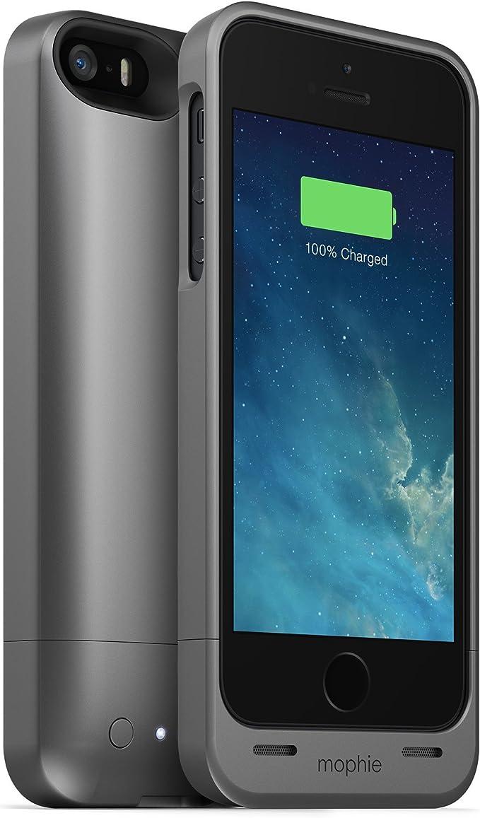 Mophie Juice Pack - Carcasa con Cargador para Apple iPhone 5 (1500 mAh), Gris: Amazon.es: Electrónica
