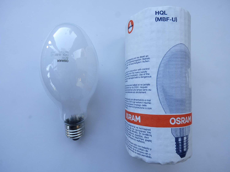 Yaming Ampoule /à vapeurs de mercure 80/W MBF HPM MBFU HQL HPL-N E27