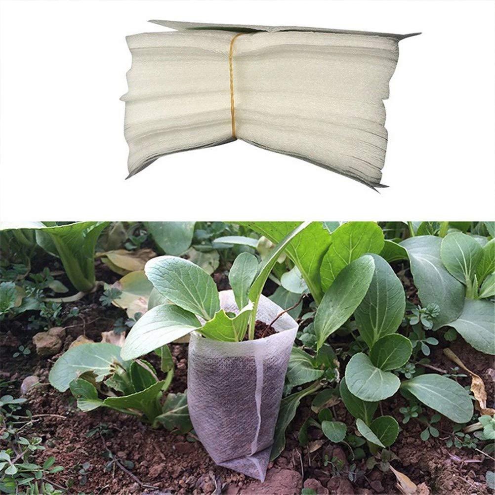 Sacchetto per Piante Sacchetti in Tessuto Non Tessuto biodegradabili Semenzaio per Vaso da vivaio Traspirante Sacco per Piante Borsa da casa Fornitura Giardino 200 Pezzi