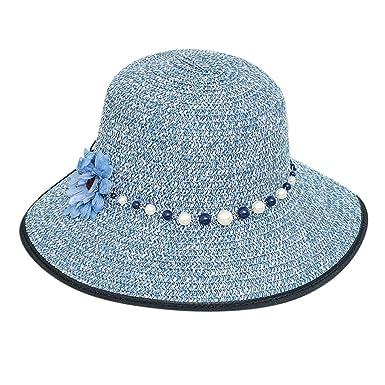 Darringls Sombrero de Paja, Hombres Mujeres Sombrero de Sol ...