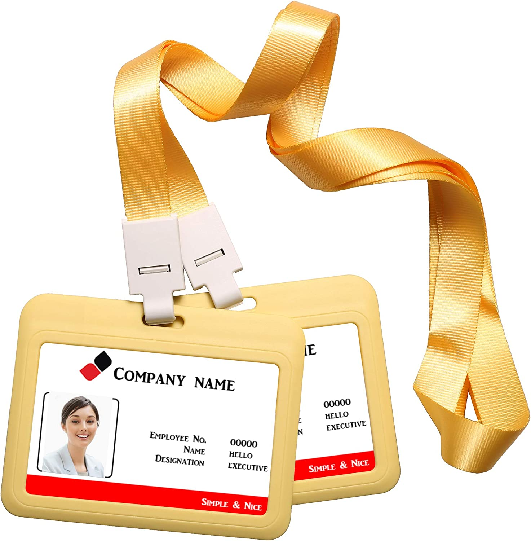 targhetta per nome tessere per studenti biglietti da lavoro rosa 2 porta badge orizzontale con cordino da collo