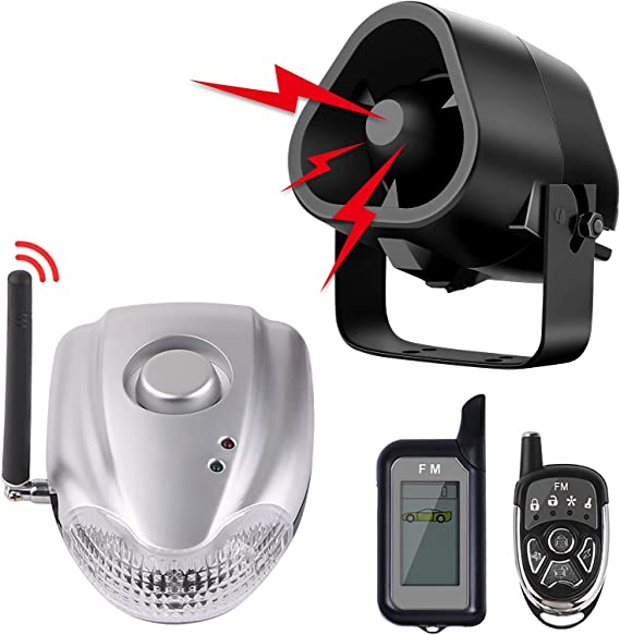 Wireless Car Alarm Security System with 2 Remote Controls Siren Universal Car Alarm System