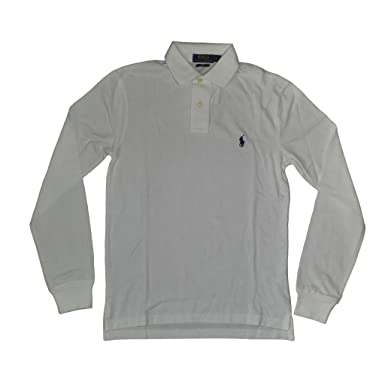 59d5e871 Image Unavailable. Image not available for. Color: RALPH LAUREN Polo Men's Long  Sleeve Mesh Polo Shirt ...