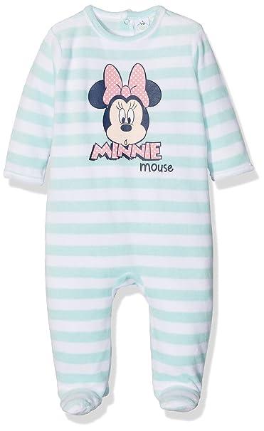 Minnie - Pijamas Enteros - para bebé niña Azul 12 Meses