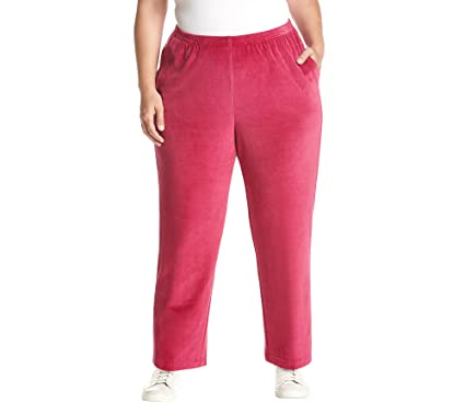 e479b03c0ab Alfred Dunner Womens Plus Velour Lounge Casual Pants at Amazon ...