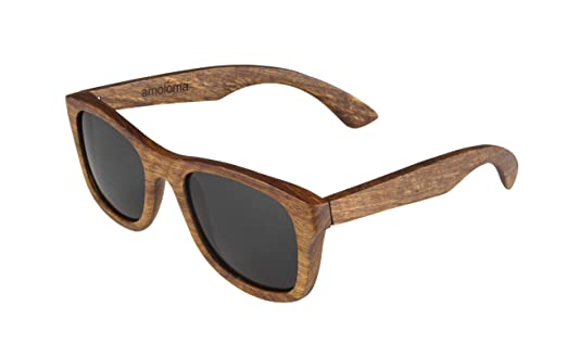 wooden sunglasses frame made from pear wood bamboo wood wayfarer style - Wooden Frame Sunglasses